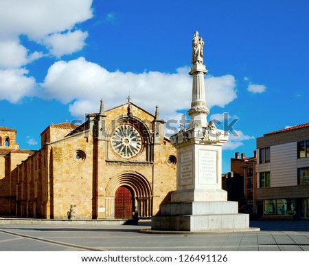 Monument and Church of San Pedro in Avila /Spain/ - stock photo