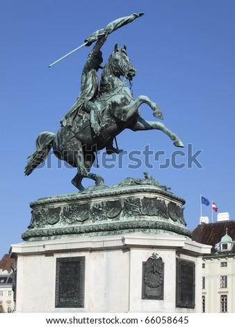 Monument archduke charles of Austria - stock photo