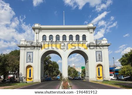 Monument arches entry to the city of Gudalajara, Jalisco, Mexico. - stock photo