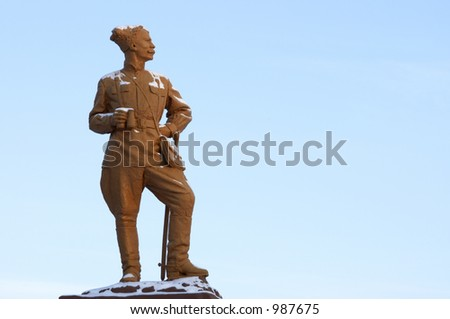 monument for russian hero Chapaev - stock photo