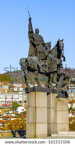 Monument near the Boris Denev Art Gallery,  Veliko Tarnovo, Bulgaria