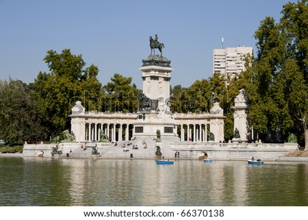 "Monument of Alfonso XII in park ""Retiro"" of Madrid"