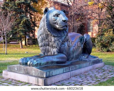 Monument of Lion in Sofia, Bulgaria - stock photo