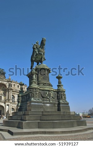 Monument of Saxon King  Johann in Dresden