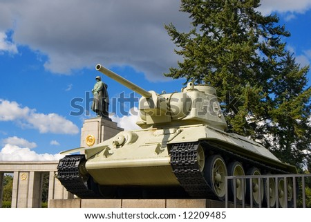 Monument of soviet soldiers. Berlin, Germany - stock photo