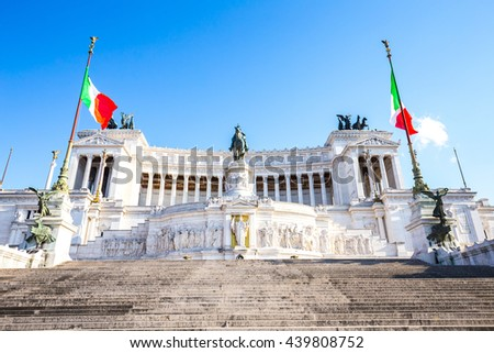 Monument of Victor Emmanuel II in Rome, Italy. - stock photo