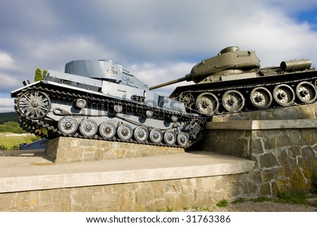 monument of World War II, Death Valley, Slovakia - stock photo