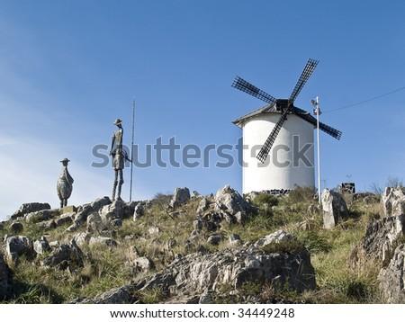 Monument to Don Quixote de la Mancha, city of Tandil, Argentina - stock photo