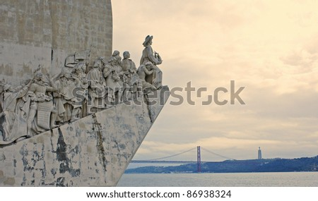 Monument to the Discoveries, Lisbon. Portugal - stock photo