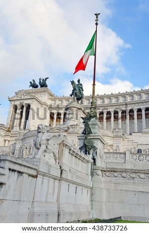 Monument to Victor Emmanuel II, Rome, Italy - stock photo