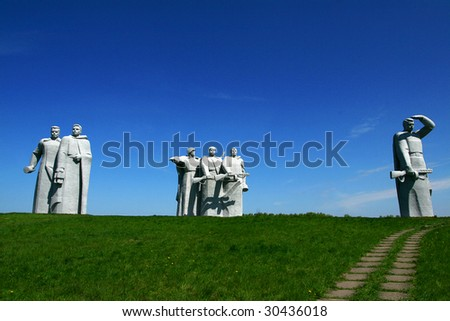 Monument to World War Heroes - stock photo