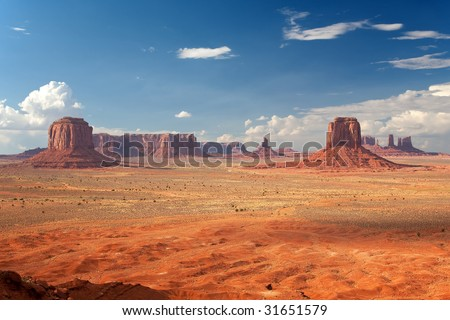 Monument Valley Artist's Point #2 - stock photo