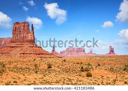 Monument Valley from John Ford's Point, Arizona-Utah, United States - stock photo