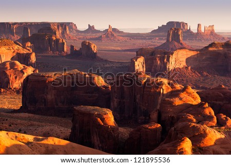 Monument Valley, Hunt's Mesa - stock photo