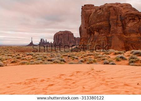 Monument Valley Landscape - stock photo