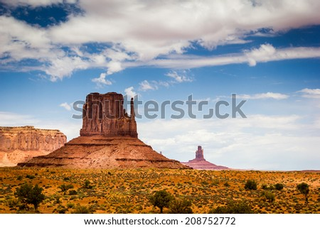 Monument Valley, mittens in the Navajo Tribal Park - stock photo