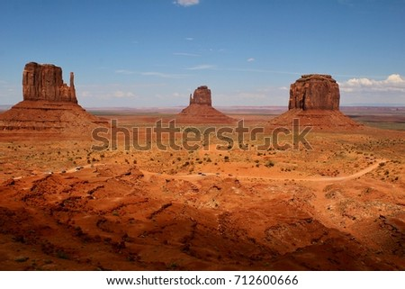 Monument Valley Navajo Tribal Park, USA, Arizona, Road to Monument Valley, July 31, 2017