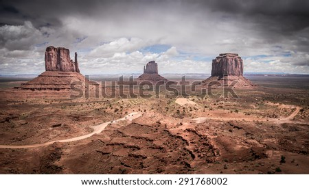 Monument Valley, popular turistic place in Utah, USA