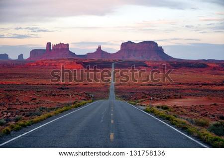Monument Valley Road Arizona - stock photo