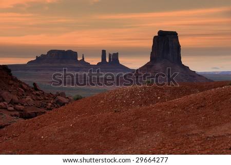Monument Valley Sunset - stock photo