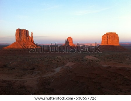 Monument Valley sunset, Arizona and Utah, USA