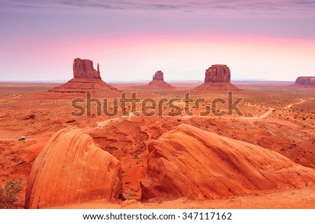 Monument Valley Tribal Park in the Arizona-Utah border, U.S.A.