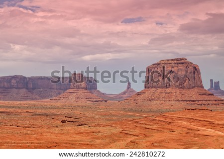 Monument Valley Tribal Park Landscape - stock photo