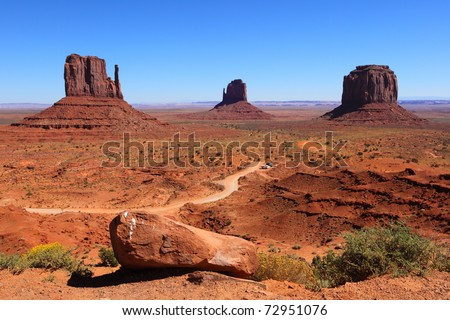 Monument Valley , Utah, USA - stock photo