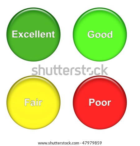 mood icons excellent, good, fair, poor - stock photo