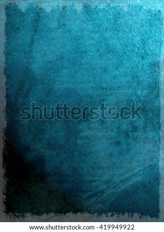Moody grunge effect added to blue textured surface
