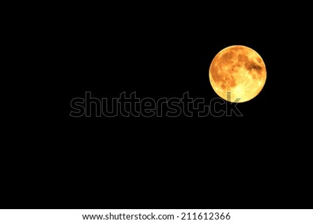 Moon at it largest also called supermoon, aprox ten procent larger than usual  - stock photo