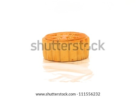 Moon cake on the white background