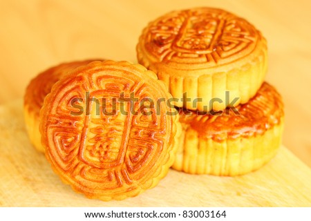 Moon cakes. Traditional food for the Chinese mid Autumn festival