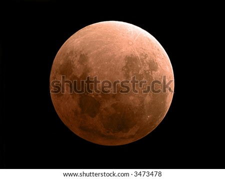 Moon eclipse November 8 2003 - stock photo