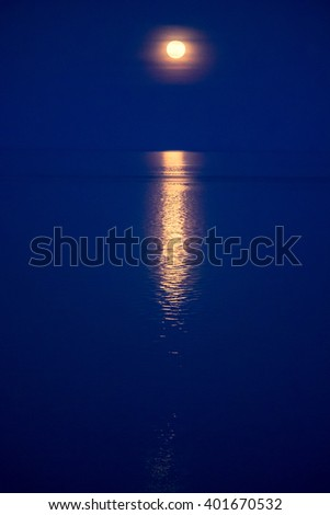 Moon glade at night - stock photo