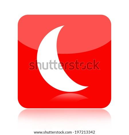 Moon icon - stock photo
