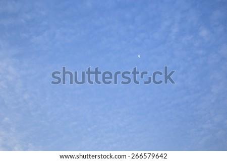Moon in cloud - stock photo