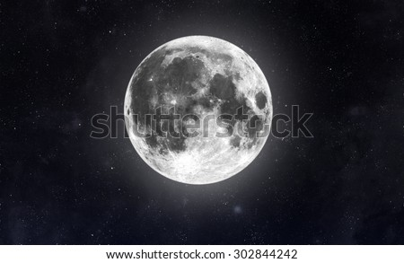 Moon in space.  Elements of this image furnished by NASA - stock photo