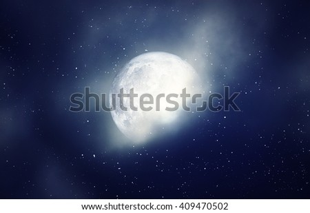 moon in the night sky background, over color - Elements of this Image Furnished by NASA