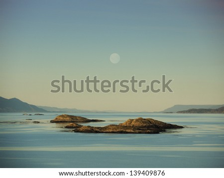 Moon Islands in Ushuaia, Argentina - stock photo