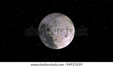 Moon on a background of stars
