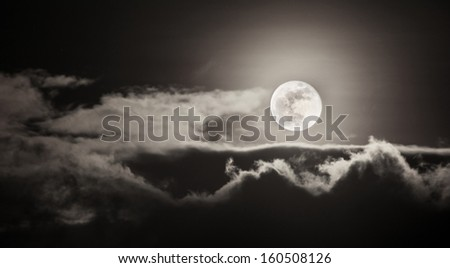 Moon on Cloudy