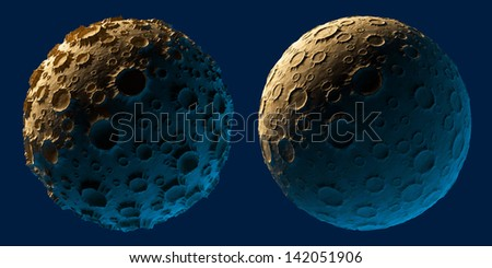 Moon planet asteroid isolated - stock photo