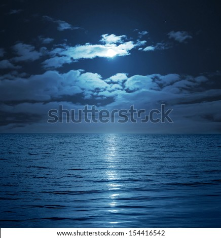 moon reflecting in a lake
