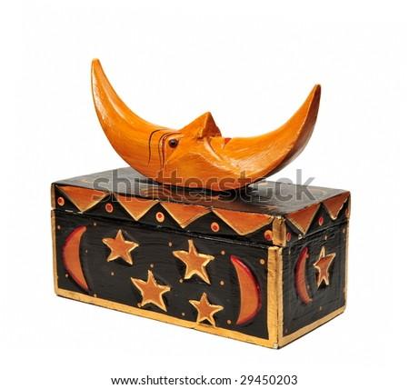 moon topped trinket box