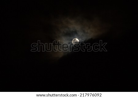 Moonlight, full moon - stock photo