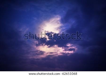 Moonlight sky - stock photo