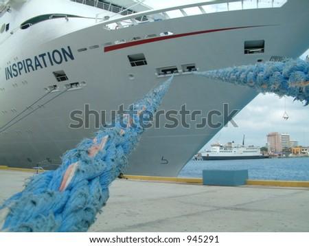 Moored Ship - stock photo