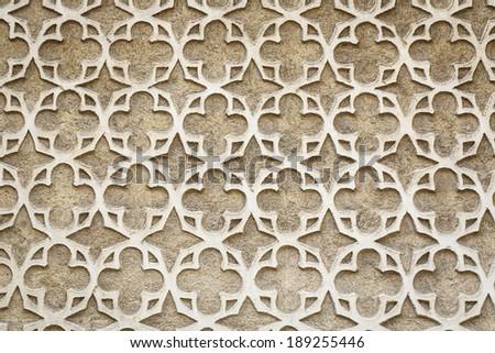 Moorish Patterned Wall Decoration Segovia Spain  - stock photo