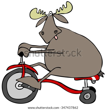 Moose on a tricycle